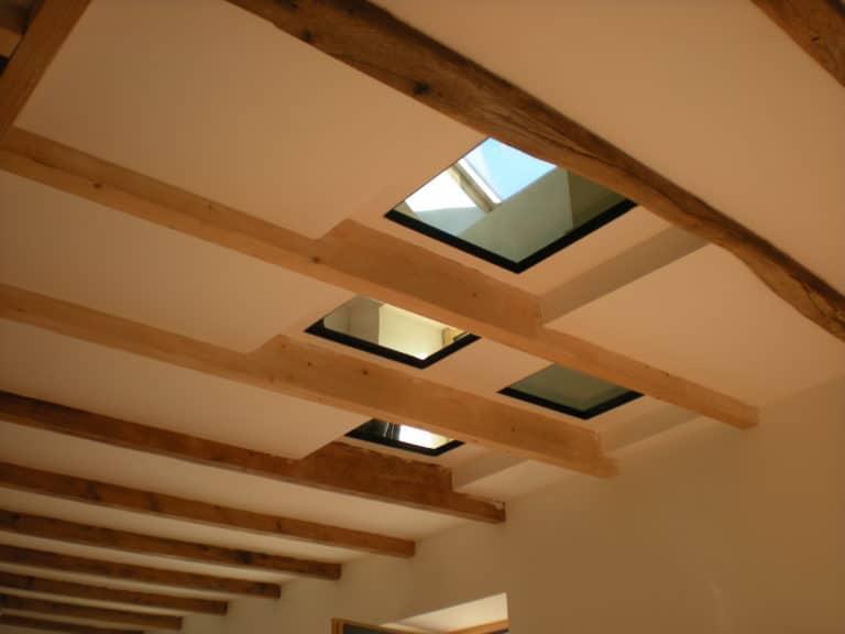 Agencement plafond pavés verre